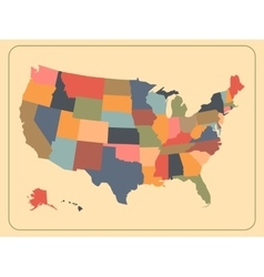 Colorful political USA map vector image