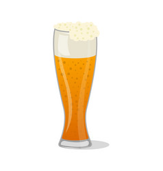 glass pint tankards of frothy beer isolated icon vector image vector image