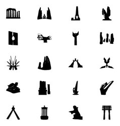 Monuments Icons 5 vector image vector image