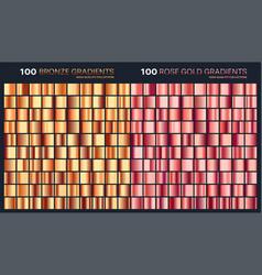 rose goldbronze gradientpatterntemplateset of vector image