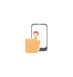 touch phone logo vector image