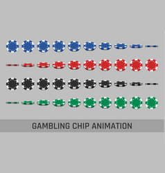 falling gambling chips vector image