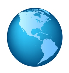Globe America maps vector image