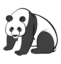 panda icon cartoon vector image vector image