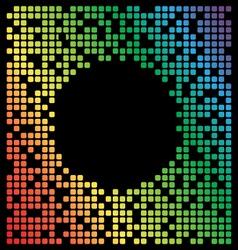 Rainbow color pixel background black copy space vector image