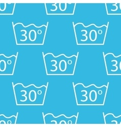 30 degrees wash pattern vector