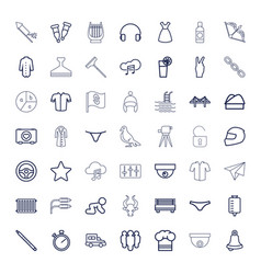 49 outline icons vector