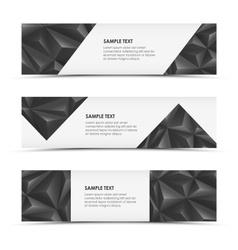 Abstract grey pyramid horizontal banners vector image