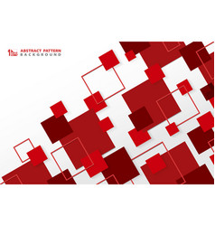 Abstract technology modern red square geometric vector