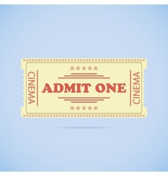 Admit One ticket vector