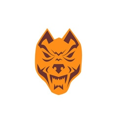 Angry Wolf Head Retro vector image
