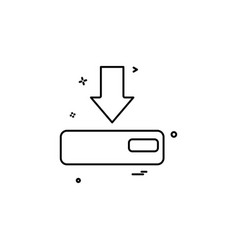 arrow down device icon vector image