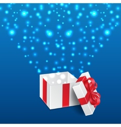 Background with gift vector image