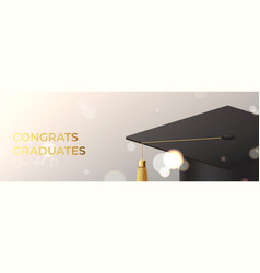 banner for design graduation vector image