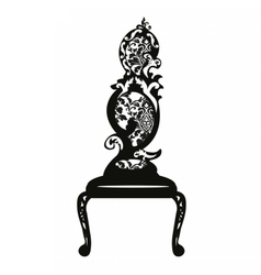 Baroque style chair vector