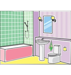 Bathroom color vector