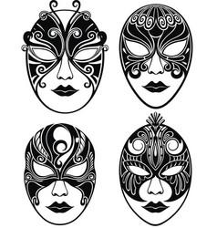 beautiful mask for mardi gras vector image