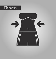 Black and white style icon woman body diet vector