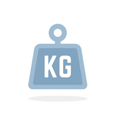 blue kg icon isolated on white vector image