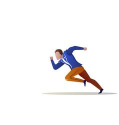 Businessman running forward business energetic vector
