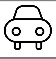 car rental transport travel vehicle icon vector image
