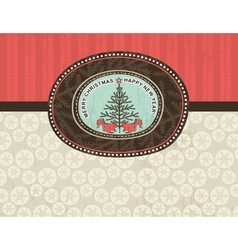 Christmas background with snowflakes squirrel and vector