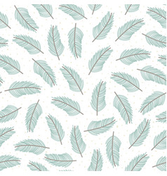 christmas tree branches seamless pattern vector image
