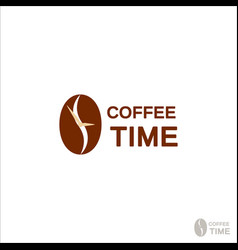 coffee logo for a coffee shop coffee beans logo vector image