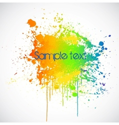 Color paint splashes background vector image
