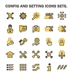 Config icon vector