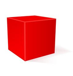 Cube 3d geometric shape vector