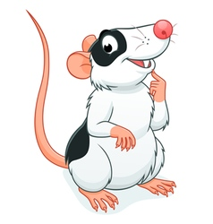 Cute rat pet vector image