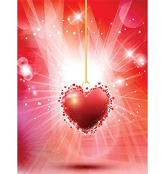 decorative valentines heart background 0601 vector image