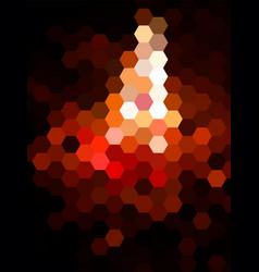 defocused hexagon landscape background vector image