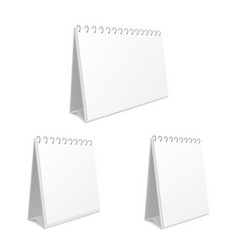desk calendar monthly pad empty template vector image