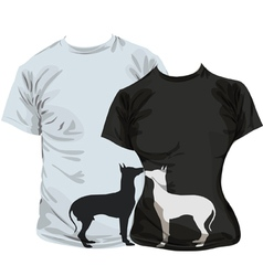 Dogs T-shirt vector