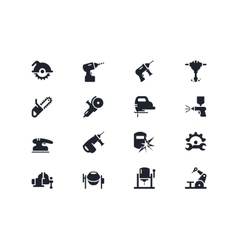 Electric work tools icons Lyra series vector image