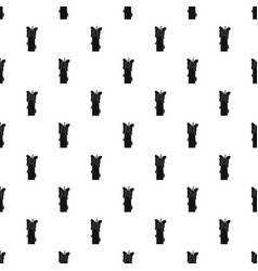 Extinguished candle pattern vector