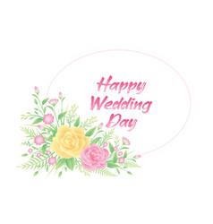 floral frame colorful card design vector image