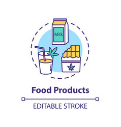 Food products concept icon vector