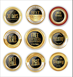 Free shipping and best quality golden labels vector