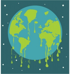 global warming background vector image