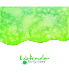 Green watercolor background vector