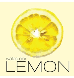 Hand drawn watercolor painting slice of lemon vector