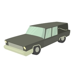 Hearse icon cartoon style vector