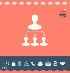 hierarchy icon vector image