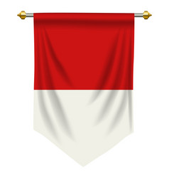 Indonesia or monaco pennant vector