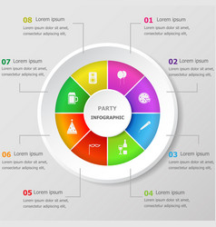 infographic design template with party icons vector image