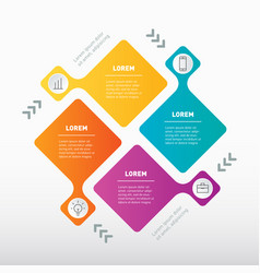 infographic technology cycle or education vector image