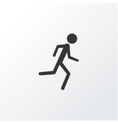 jogging icon symbol premium quality isolated vector image